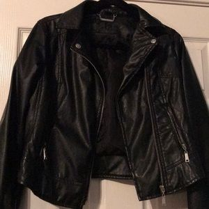 Jackets & Coats - Faux Leather Jacket